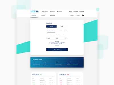 Bluebit Landing Page order trading litcoins bitcoin cryptocurrency 2018 web app website landing page