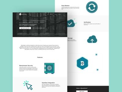 BackupBox Website Design israel protection ransomware cyber security ux ui 2018 responsive vector website