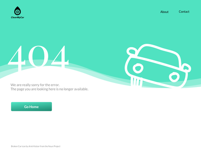 404 Page Design landing page cleanmycar button icon vector 2018 ux ui website 404