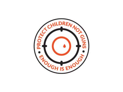 Gun Control Protest Logo florida schools teenager 2018 art vector enough is enough gun control logo