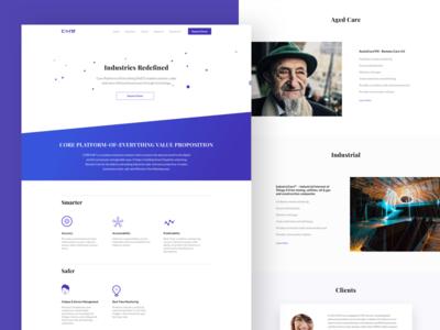 Core Landing Page webapp webdesigner responsive vector 2018 redesign website landingpage