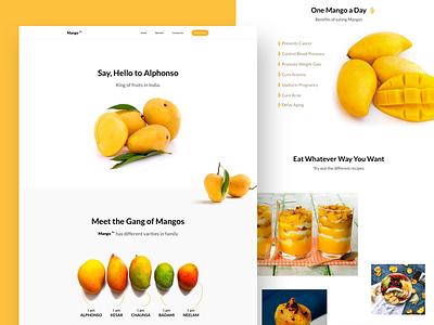 Mango TM Landing Page uiux 2018 landingpage website india mango