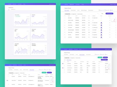 Medlyte Webapp - Dashboard nirav remote sketch healthcare saas design ux ui website webapp dashboar
