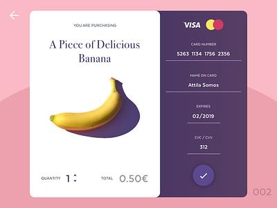 Buy the banana pink banana credit card checkout daily ui