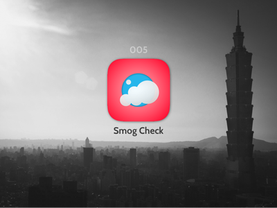 Smog checker, app icon ios day 005 app icon daily ui