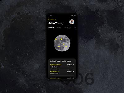 Astronaut Profile day 006 daily ui iphonex