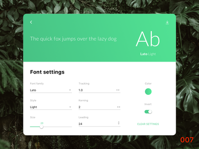 Font setting tablet settings day 007 daily ui
