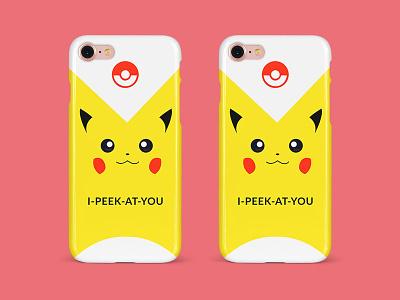 Pikachu Phone Cover Design apparel vector illustration branding design