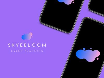 SkyeBloom Event Planning App Design logo apparel flat ux ui app design icon illustration branding design