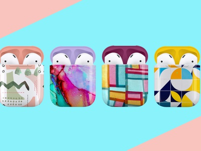 AirPods Case Designs apparel mockups pattern vector illustration branding design