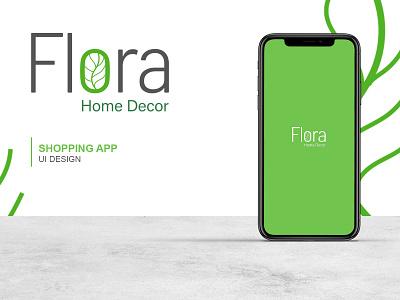 Flora Home Decor App design web animation minimal flat app procreate ux ui branding design