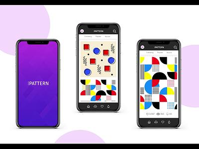 IPattern Mobile App Design pattern digitalart illustration product design flat animated ux figma app ui design