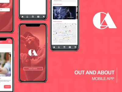 Out and About mobile app design mobile ui product design figma flat branding web app ux ui design