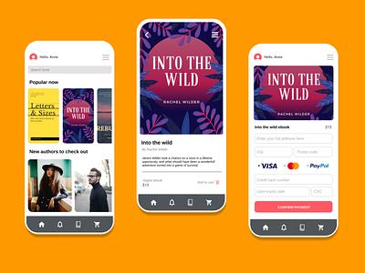 Pocket Book app design figma product design minimal web flat app branding design ux ui