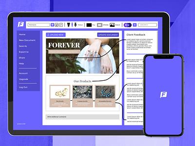 Client Feedback App Design product design mobile app web app ux ui branding design