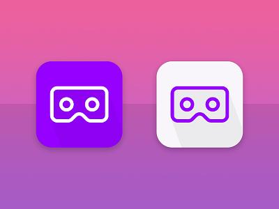 VR App icon design product design minimal icon app ui vector illustration branding design