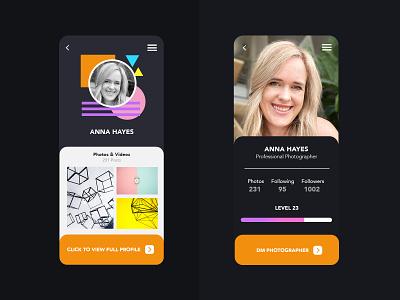 User Profile web website minimal product design flat app ux ui design