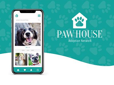 Paw House Case Study branding flat web app ui ux product design design