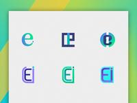 Letter E & I Combination