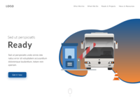 Landing page concept for NTTA