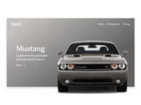 Ford mustang landing page.