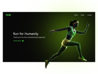 Run for Humanity landing page