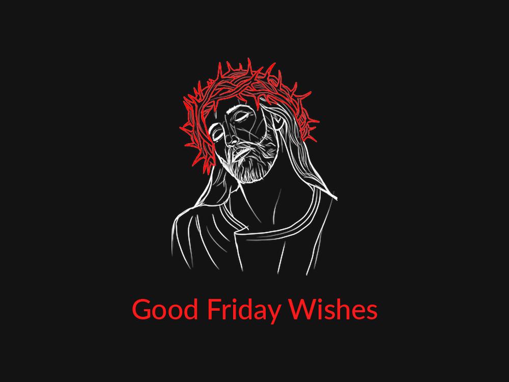 Good Friday Illustration post wishes holy week good friday religious art photoshop adobe illustration mockup design