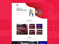 Red Arrows Website Concept