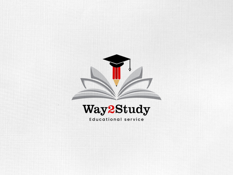 Logo Design Way2study education education logo logo concept vector typography logo design logo adobe xd xd adobe mockup design