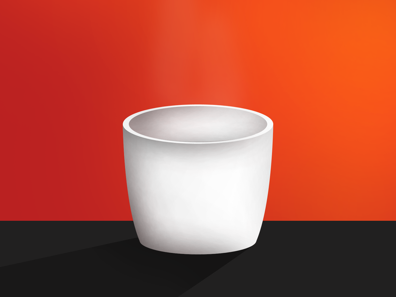 A Cup - Illustration try-out artwork drawingart ideas creative cup adobe photoshop illustration adobe design
