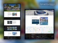 Top Notch Pools website redesign