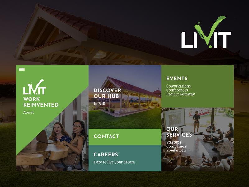 Livit website redesign w8 hub workspace bali redesign developement design web design ux
