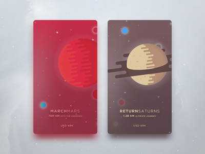 The Planet onboarding card star wars starwars intro screen saturn mars planet space