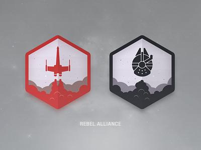 Rebel Alliance rebel alliance star wars polygonal illustration icon spaceships starwars