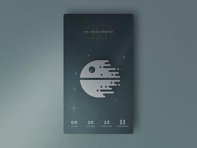 Death Star is Coming star wars starwars death star timer countdown mobile app ui wars star