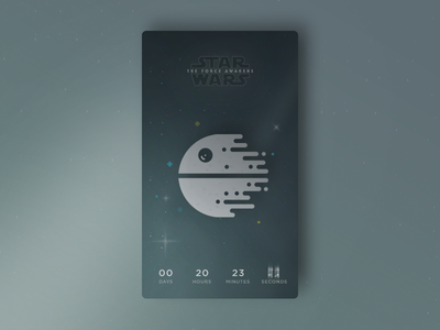 Death Star is Coming star wars starwars death star timer countdown mobile app ui wars star