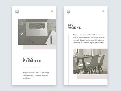 Portfolio portfolio white clean minimalist minimalism ui mobile website mobile web app mobile