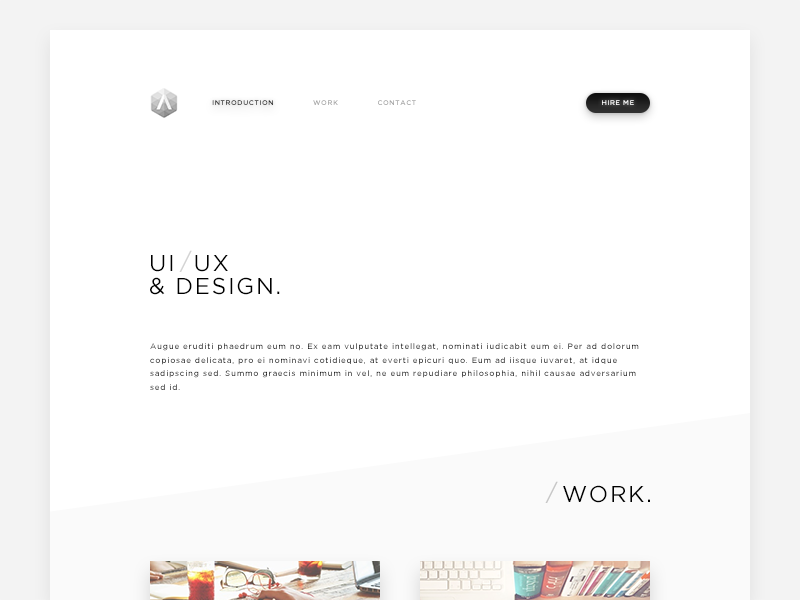 Portfolio minimalist minimal website web portfolio monochrome white black clean