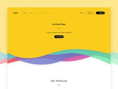 Landing Page WIP dashboard app web website modern simple clean black yellow educational landing page