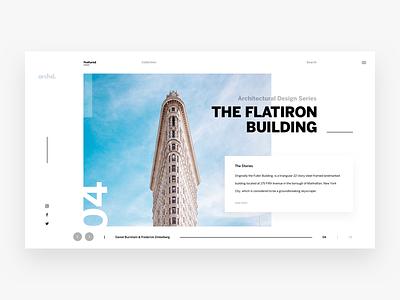 Architecture Blog Exploration travel website blog flatiron architecture dashboard landing page minimal clean