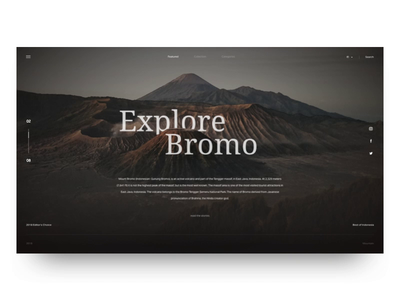 Travel Blog Exploration principle website animation parallax parallax website nature mountain bromo jawa timur ui ux dashboard ui website landing page dashboard