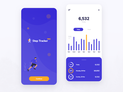 Step counter app design usability user interface user experience iphone ios ux ui app mobile