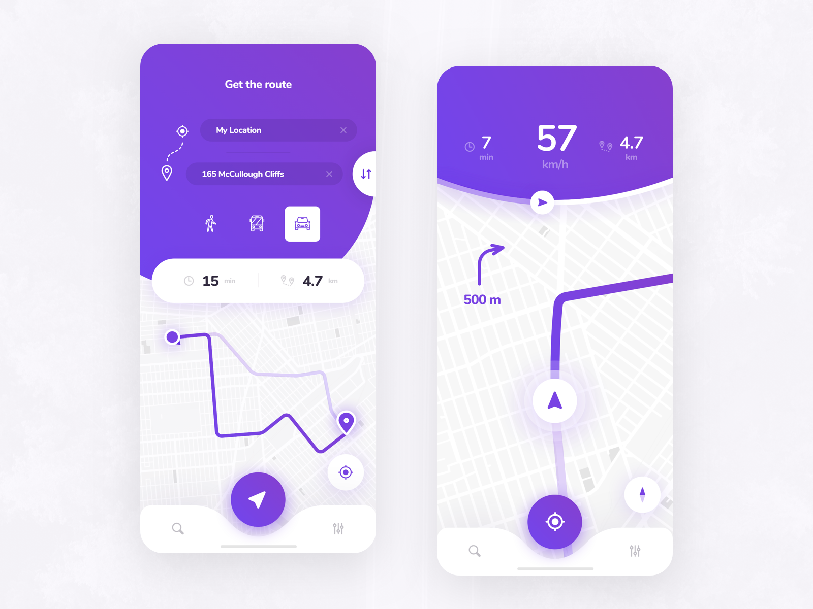 Navigation Mobile App by Anton UX on Dribbble