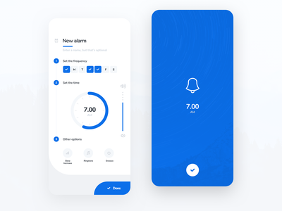 Alarm Mobile App design app design usability user interface user experience iphone ios ux ui app mobile