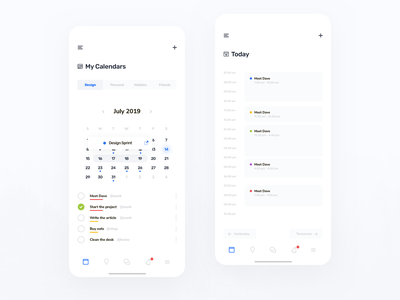 My Calendars App app design usability user interface user experience iphone ios ux ui app mobile