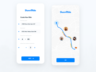 Carpool App app design usability user interface user experience iphone ios ux ui app mobile