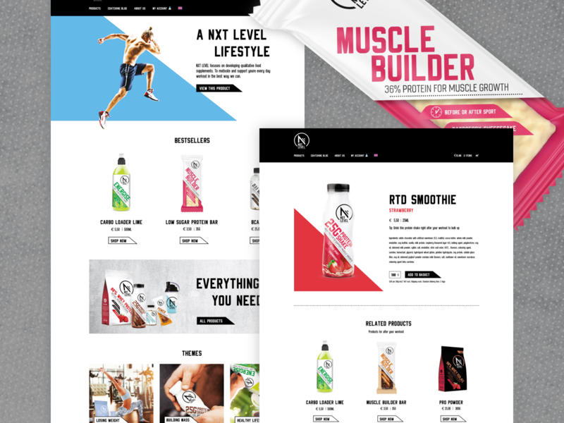 Nxt Level Sport Nutrition by Tessa for Jungle Minds on Dribbble
