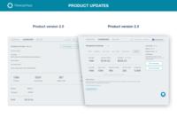 Product update (version 2.0 → 2.3), Retargetapp
