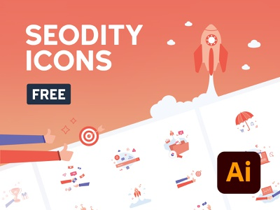 Icon set from Seodity | Freebie illustration illustrations seo freebie free icon set icons icon design
