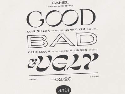 AIGA Panel Flyer